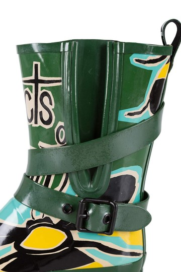 Burberry Rubber Belted Multicolor Boots Image 6