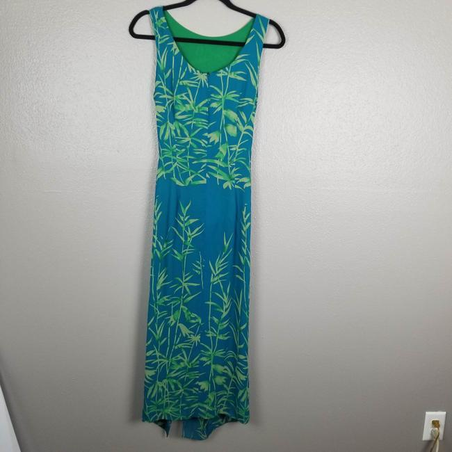 Turquoise & Green Maxi Dress by Donna Morgan Image 1
