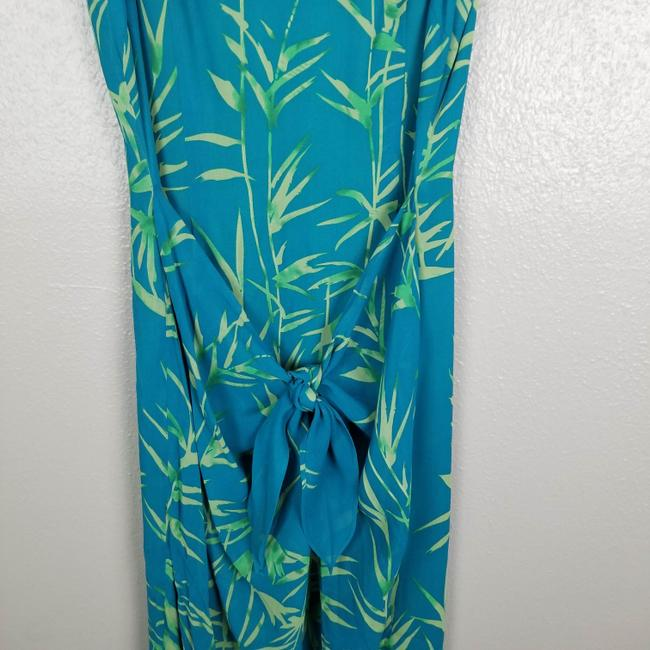 Turquoise & Green Maxi Dress by Donna Morgan Image 2