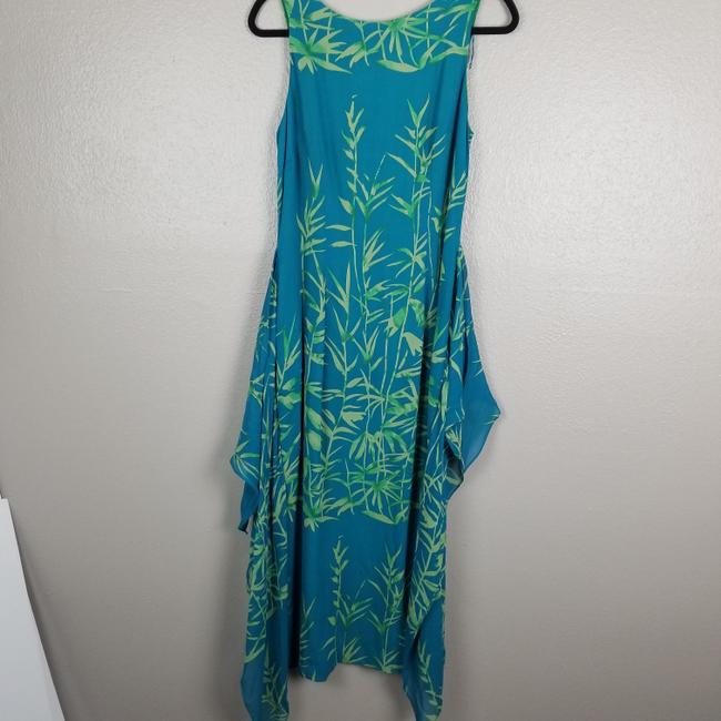 Turquoise & Green Maxi Dress by Donna Morgan Image 3