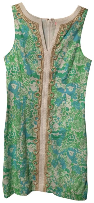 Preload https://img-static.tradesy.com/item/25709083/lilly-pulitzer-green-and-blue-shift-short-casual-dress-size-0-xs-0-1-650-650.jpg