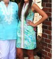 Lilly Pulitzer short dress green and blue on Tradesy Image 1