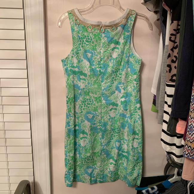 Lilly Pulitzer short dress green and blue on Tradesy Image 2