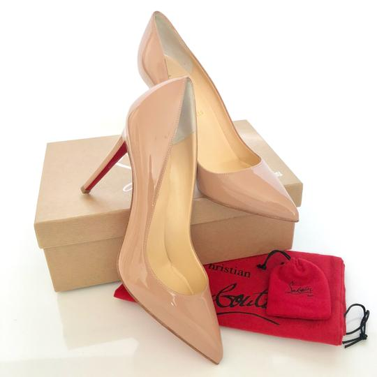 Christian Louboutin Pigalle Follies nude patent Pumps Image 3