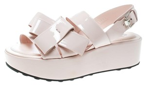 Tod's Patent Leather Pink Platforms