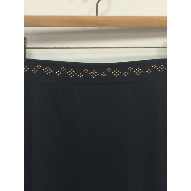 Exquz Boho Bohemian Beaded Stretchy Metallic Skirt Black Image 2