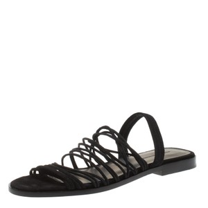 Alexander Wang Strappy Suede Black Flats