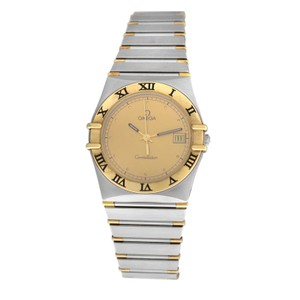 Omega Men's Unisex Omega Constellation 396.1070 Half Bar Gold 32MM Quartz