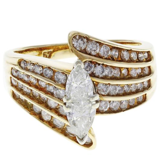 Preload https://img-static.tradesy.com/item/25709282/14k-yellow-gold-diamond-accented-marquise-cut-engagement-ladies-175-cts-ring-0-0-540-540.jpg