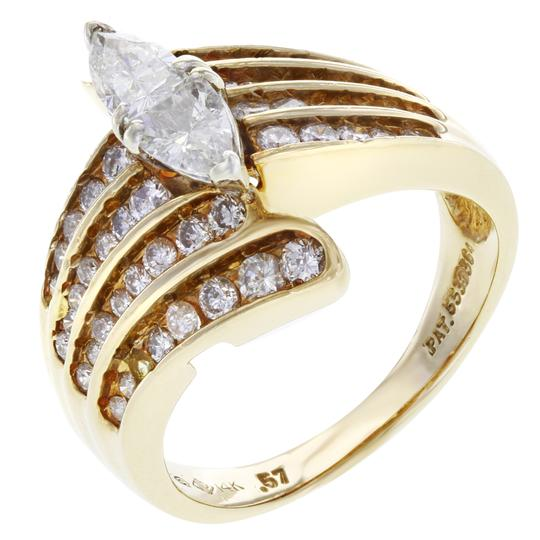 Rachel Koen Diamond Accented Marquise Cut Engagement Ladies Ring 1.75 Cts Image 1