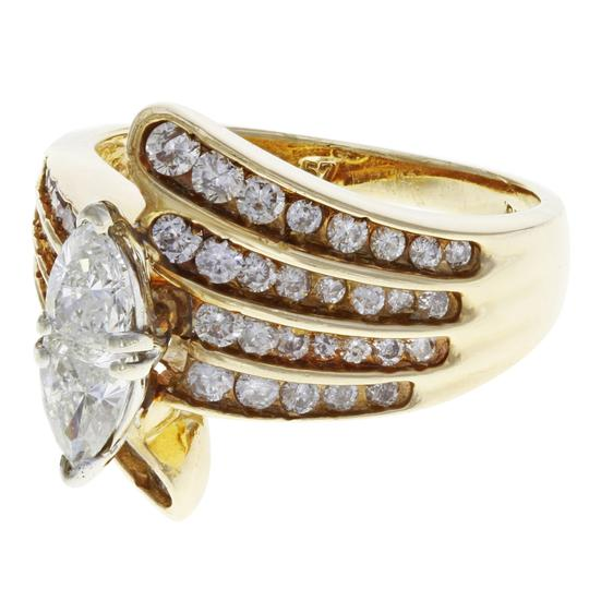 Rachel Koen Diamond Accented Marquise Cut Engagement Ladies Ring 1.75 Cts Image 6