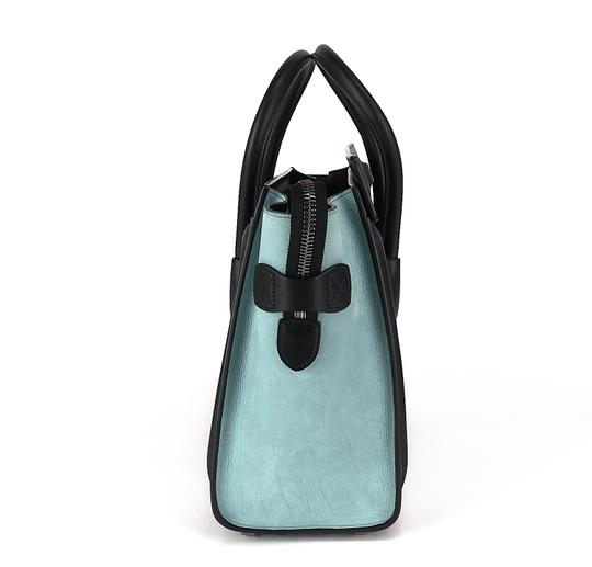 Céline Pebbled Leather Tote in Beige, blue, black Image 2