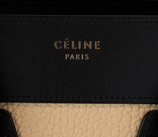 Céline Pebbled Leather Tote in Beige, blue, black Image 7