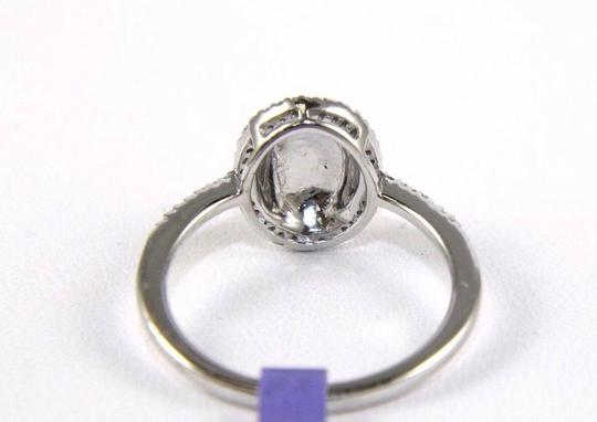 Other Oval Diamond Shell Cluster Lady's Ring 14k White Gold .14Ct Image 2