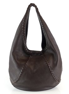 Bottega Veneta Leather Braided Intrecciato Hobo Bag