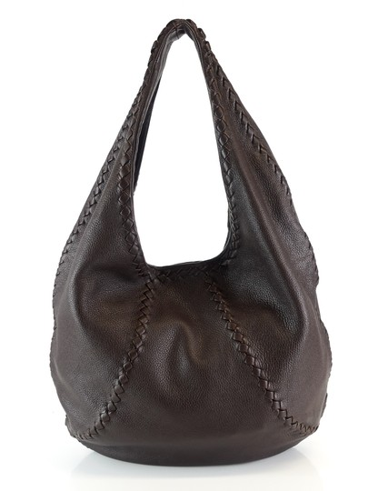 Bottega Veneta Leather Braided Intrecciato Hobo Bag Image 1