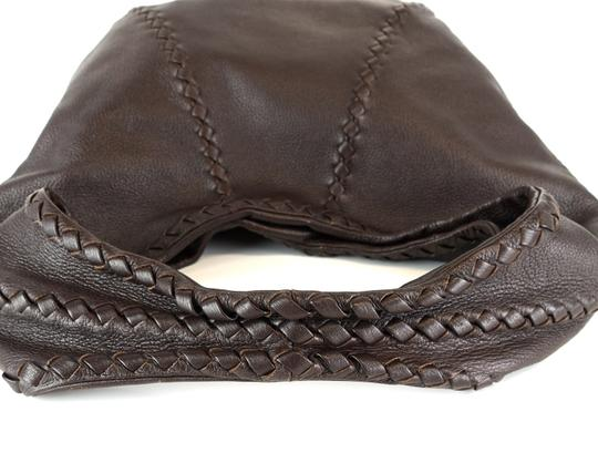 Bottega Veneta Leather Braided Intrecciato Hobo Bag Image 3