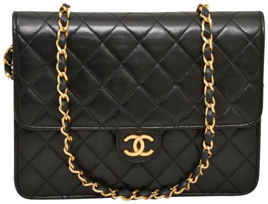 Preload https://img-static.tradesy.com/item/25709328/chanel-classic-flap-clutch-diana-vintage-quilted-cross-body-double-cc-ghw-black-lambskin-leather-sho-0-1-540-540.jpg