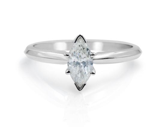 Preload https://img-static.tradesy.com/item/25709362/14k-white-gold-marquise-cut-solitaire-diamond-engagement-051cts-ring-0-0-540-540.jpg