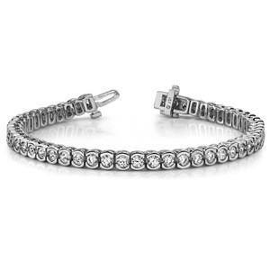White 7.50 Ct Ladies Round Cut Tennis Bracelet