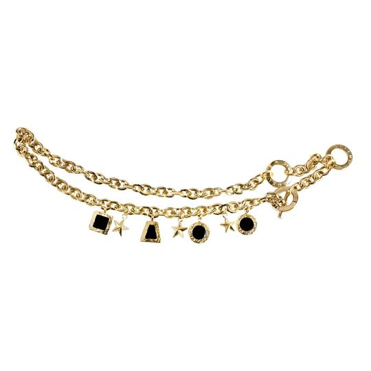 Céline Gold Tone Charm Chain Link Toggle Belt Image 1