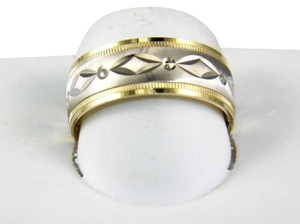 Other Marquise Design Jewelry Ring Band 10k 2 Tone White & Yellow Gold