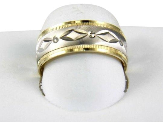 Preload https://img-static.tradesy.com/item/25709505/marquise-design-band-10k-2-tone-white-and-yellow-gold-ring-0-1-540-540.jpg