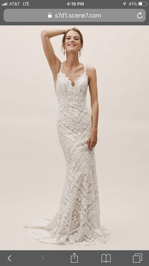 Preload https://img-static.tradesy.com/item/25709611/bhldn-ivory-lace-zella-gown-feminine-wedding-dress-size-12-l-0-0-540-540.jpg