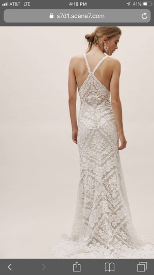 BHLDN Ivory Lace Zella Gown Feminine Wedding Dress Size 12 (L) Image 1