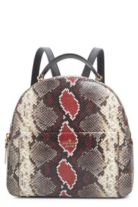 Kate Spade Embossed Leather Snakeskin Leather Reese Park Red Backpack