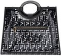 Fendi Shopper Logo Tote in Black