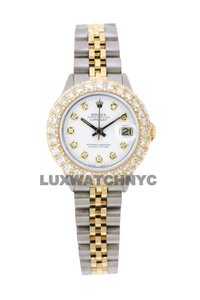Rolex 2.5ct Ladies 26mm Datejust Gold & Stainless with Appraisal