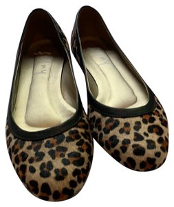 French Sole Leopard Flats