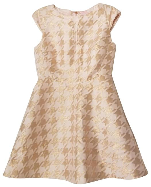 Item - Peach and Rose Gold London Caley Jacquard Short Cocktail Dress Size 10 (M)