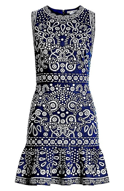 Preload https://img-static.tradesy.com/item/25710861/alice-olivia-bluewithe-with-tag-bluewithe-rapunzel-embroidered-mid-length-cocktail-dress-size-12-l-0-0-650-650.jpg