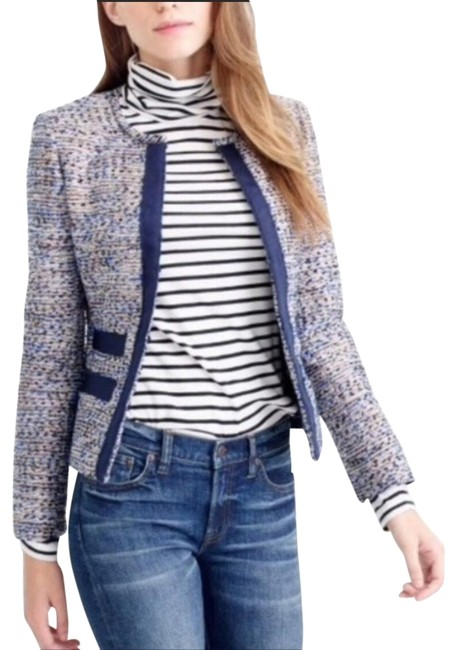 Item - Dark Blue Nwt. Metallic Tweed Jacket Size 8 (M)