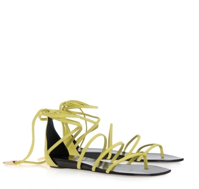 Item - Yellow Women's Lace-up Leather Gladiator Sandals Size EU 36 (Approx. US 6) Narrow (Aa, N)