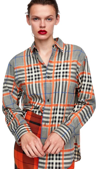 Item - Orange 7832/700 Button-down Top Size 4 (S)