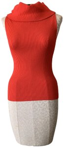 5/48 Sleeveless Shirt Work Colorful Top Red