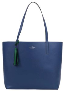 Kate Spade Tote in consell blue/green bean