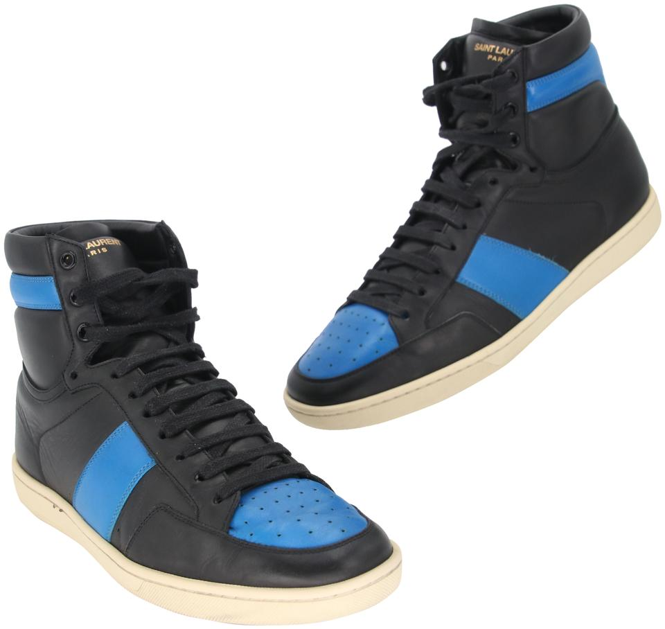 Men's Blue High Top Sneakers by Moschino | Men's Fashion