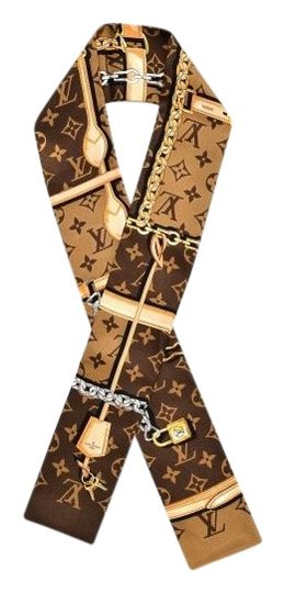 Louis Vuitton NEW Rare Monogram Confidential Silk Bandeau Scarf Wrap Image 0