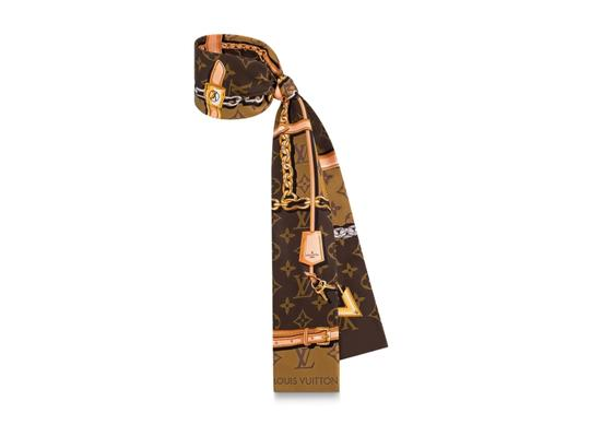 Louis Vuitton NEW Rare Monogram Confidential Silk Bandeau Scarf Wrap Image 1