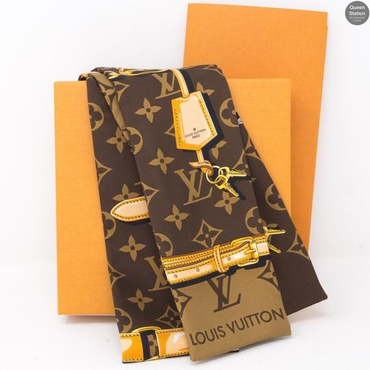 Louis Vuitton NEW Rare Monogram Confidential Silk Bandeau Scarf Wrap Image 2