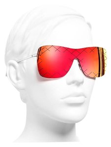 Chanel Shield Quilting Runway Sunglasses
