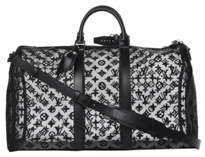 Louis Vuitton Virgil Abloh Limited Edition Prism Keepall Black Travel Bag