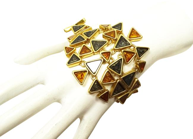 Item - Multi-color Triangle Statement Bracelet