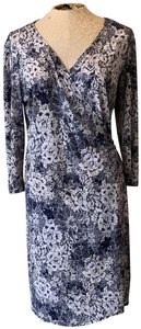 Emma & Michele short dress Blue and White Floral Longsleeves on Tradesy