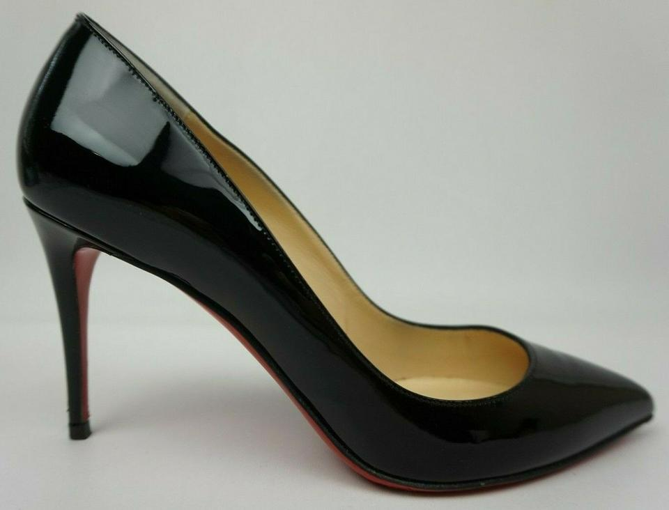 new concept a93ed 1f4d9 Christian Louboutin Black Patent Leather Pigalle Pointy Heel Pumps Size EU  38 (Approx. US 8) Regular (M, B)
