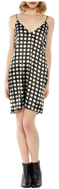 Walter by Walter Baker Black and White Effie Dot Sleeveless Mid-length Night Out Dress Size 4 (S) Walter by Walter Baker Black and White Effie Dot Sleeveless Mid-length Night Out Dress Size 4 (S) Image 1